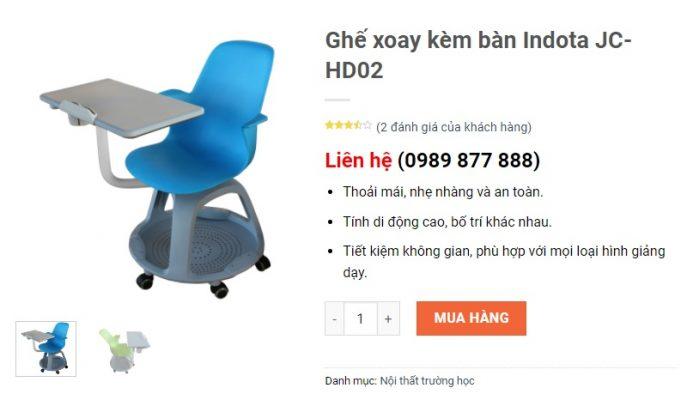 ghế xoay thông minh Indota JC-HD02