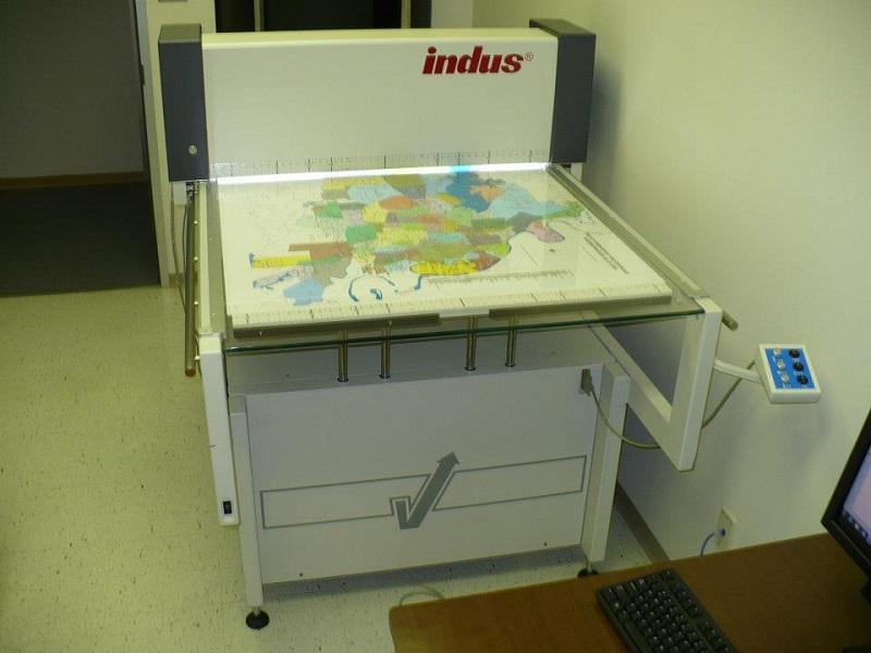 Máy scan bản đồ Indus