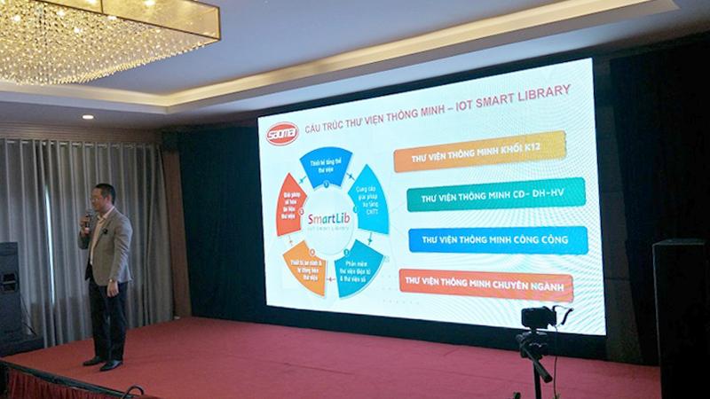 Hội nghị khách hàng đại lý Sao Mai 2020 - trình bày giải pháp thư viện thông minh