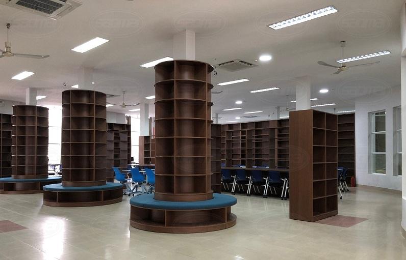 Khu tự học trong thư viện thông minh